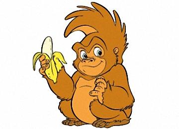 Malvorlagen Affen Kostenlos