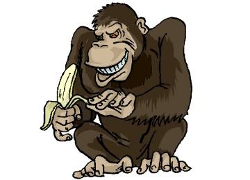 Malvorlage Affe Mit Banane