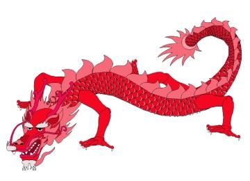 Chinesische Drachen Malvorlagen