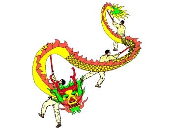 Ausmalbilder Chinesische Drachen