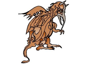 Ausmalbilder Fantasy Drachen