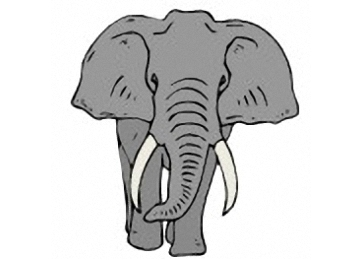 Ausmalbild Elefant Erwachsene