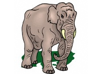 Ausmalbilder Tiere Elefanten