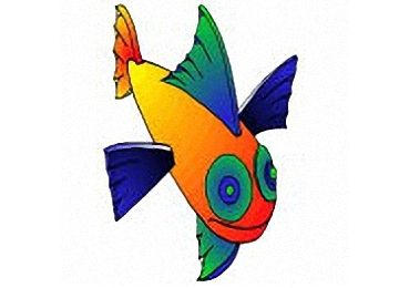 fische zum ausschneiden - vorlagen zum ausmalen gratis ausdrucken