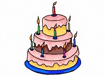 Ausmalbilder Geburtstagstorte
