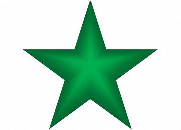 Fünfzackiger Stern Vorlage