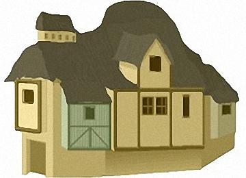 Malvorlagen Erwachsene Reetdachhaus