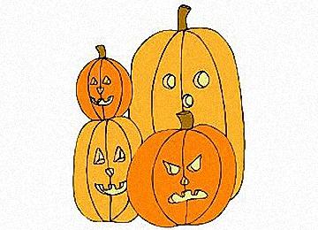Halloween Ausmalbilder Kürbis