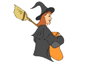 Hexe mit kessel ausmalbilder 38 Hexen