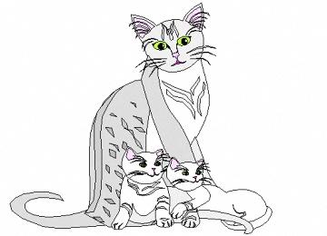 Malvorlagen Katzenfamilie