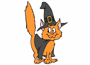 halloween katze ausmalbilder