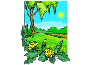 Frühlingswiese Ausmalbilder Kostenlos