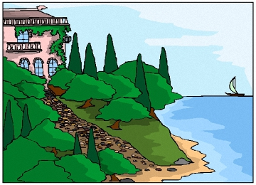 Malvorlagen Haus Am Meer