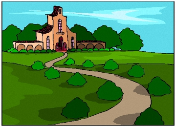 Ausmalbilder Haus Im Grünen