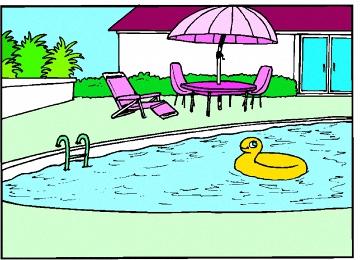 Malvorlagen Haus Mit Pool