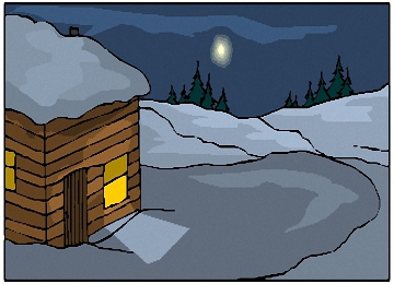 Ausmalbilder Winterlandschaft