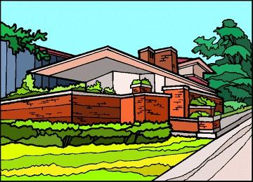 Ausmalbild Haus Mit Garten