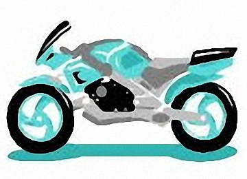 Ausmalbilder Motorrad