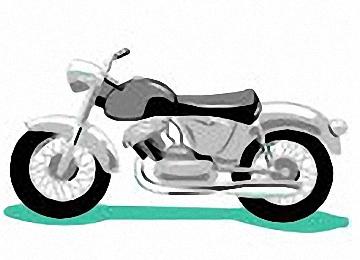 Motorrad Malvorlagen Einfach