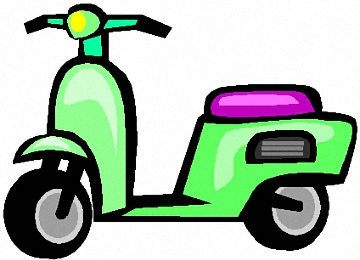Malvorlagen Erwachsene Motorroller