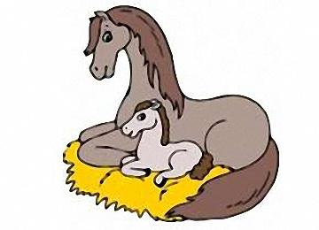 Malvorlagen Pferde Mit Fohlen