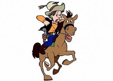 Ausmalbilder Pferde Cowboy