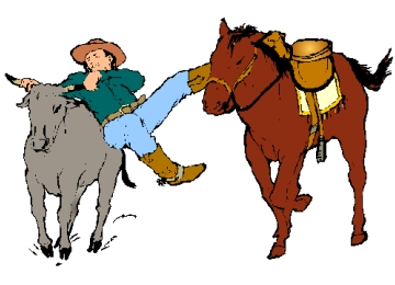 Ausmalbild Pferd Cowboy