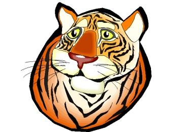 Ausmalbilder Tigerkopf