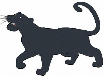 Ausmalbilder Schwarzer Panther