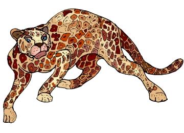 Window Color Vorlagen Leoparden