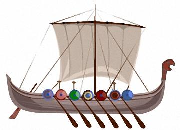 Drachenboot Wikinger Ausmalbilder