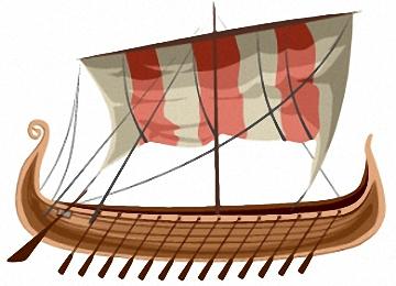 Drachenboot Wikinger Malvorlagen