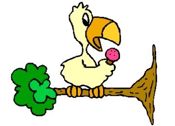 Malvorlage Vogel Mit Ast