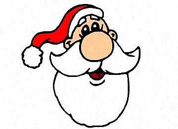 malvorlagen weihnachtsmann kopf