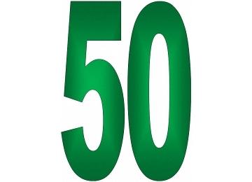 Ausmalbilder Zahlen 50