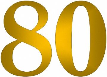 Malvorlagen Zahlen 80